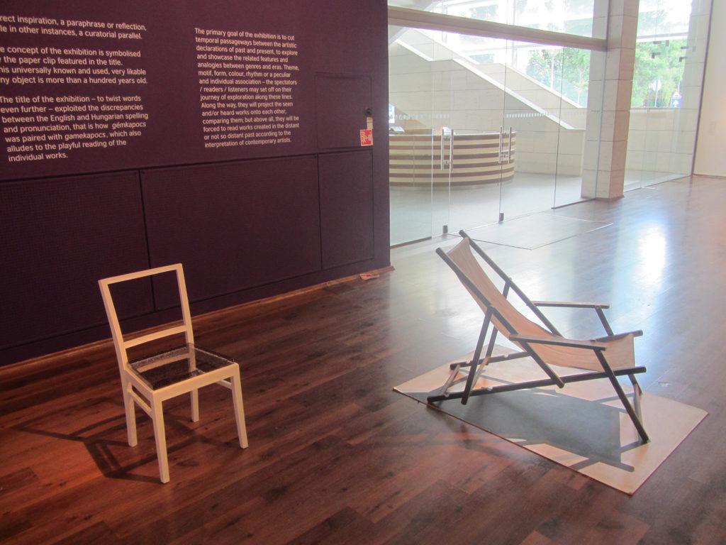 A Pauer szék és Pauer Gyula Napozó ágya, 2016, MODEM, GÉM/GAMEkapocs kiállítás